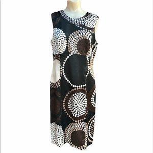 Citrine of Canada Silky Geometric Polka Dot  Dress